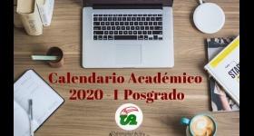 Calendario Académico 2020-I Posgrados