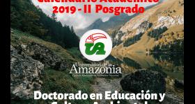 Calendario Académico 2019-II Doctorado en Educación y Cultura Ambiental